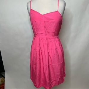 J Crew Factory Pink Dress with pockets